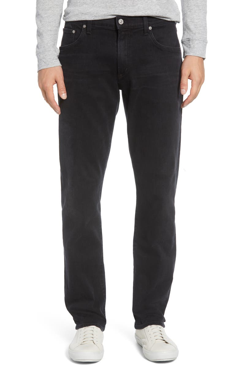 CITIZENS OF HUMANITY Gage Slim Straight Leg Jeans, Main, color, RAMON FADED BLACK