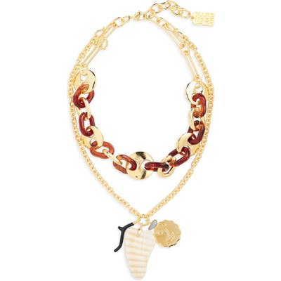 Lizzie Fortunato Elba Layered Charm Necklace