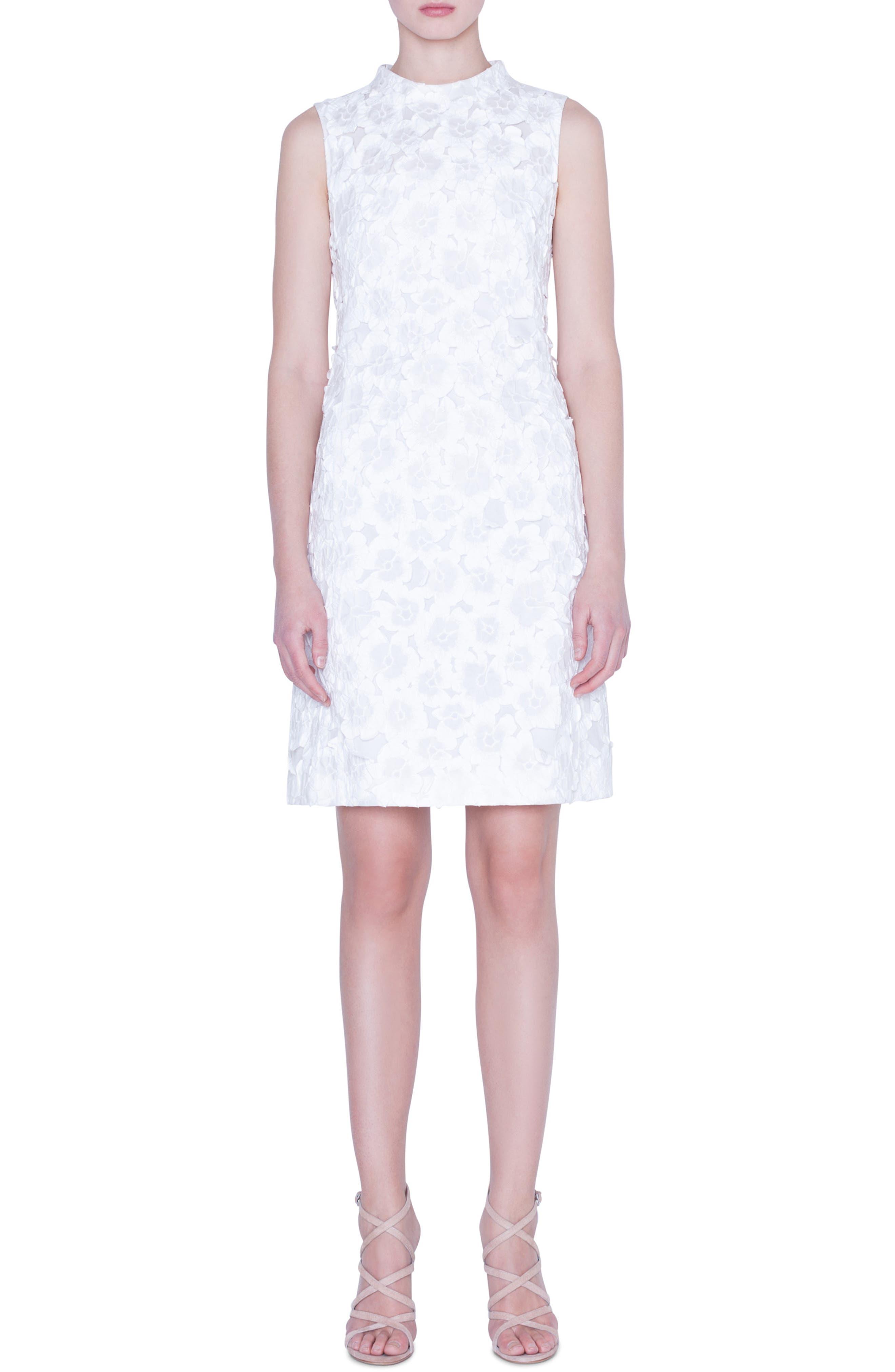 Akris Dresses Floral Crinkle Jacquard Dress