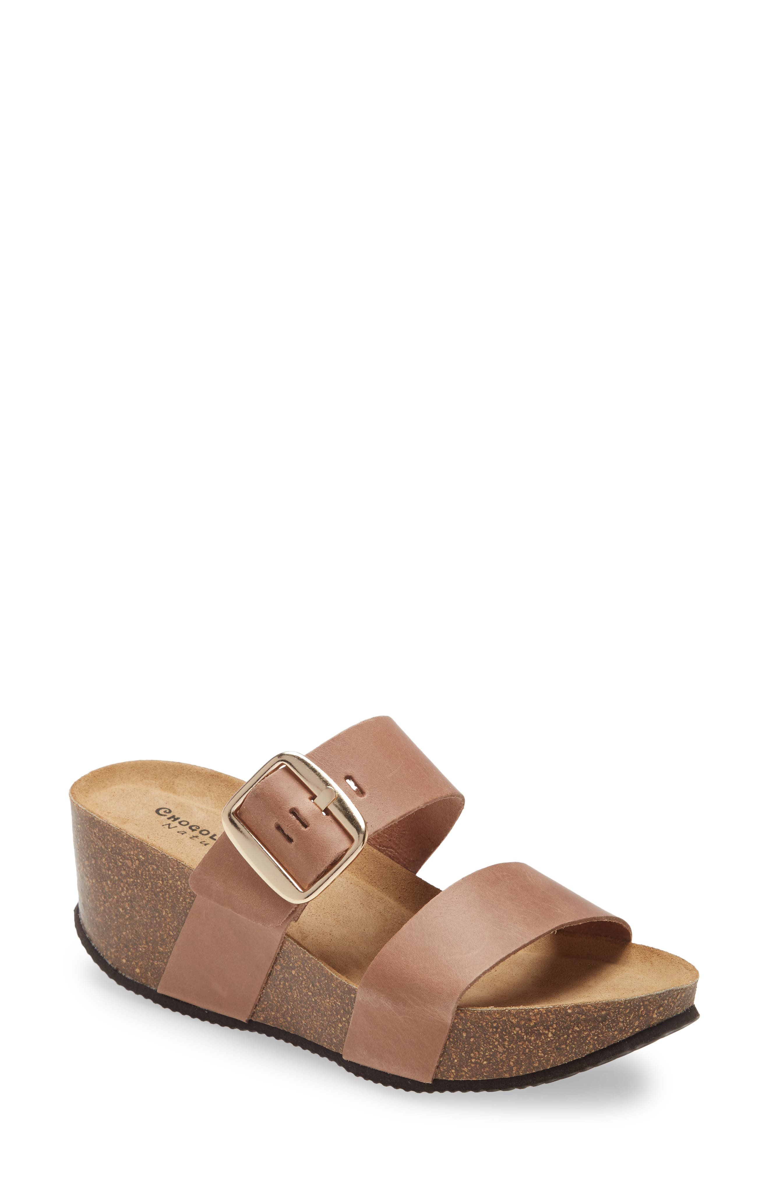 e Elle Platform Wedge Slide Sandal