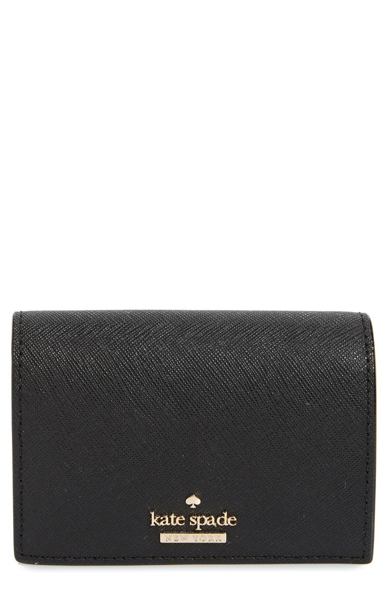 KATE SPADE NEW YORK cameron street - annabella leather accordion card case, Main, color, 001