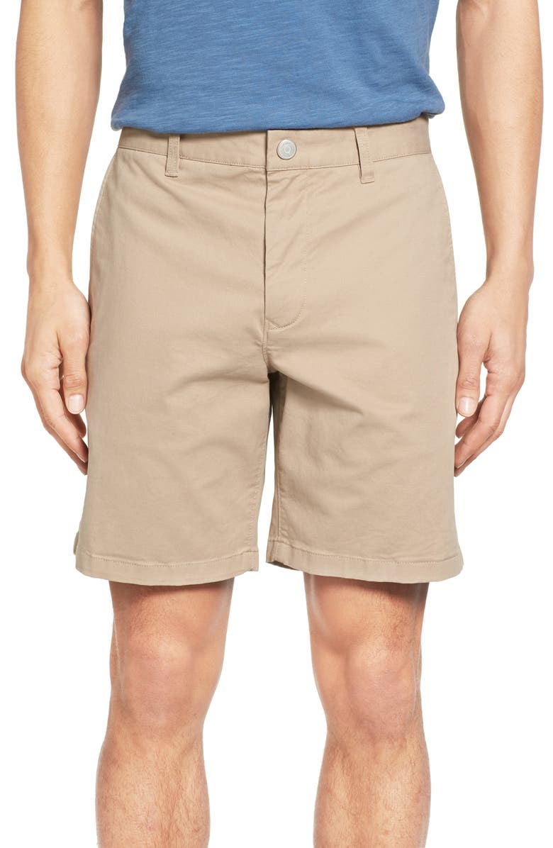 BONOBOS Stretch Washed Chino 7-Inch Shorts, Main, color, TRUE KHAKI