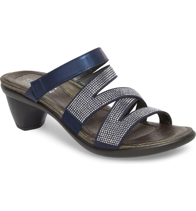 NAOT Formal Sandal, Main, color, DARK BLUE LEATHER
