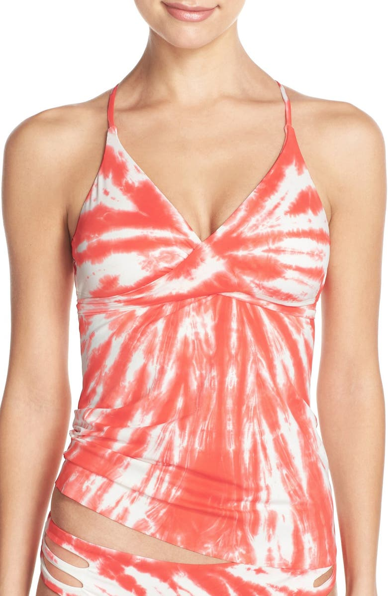 LUCKY BRAND 'Fireworks' Tankini Top, Main, color, 626