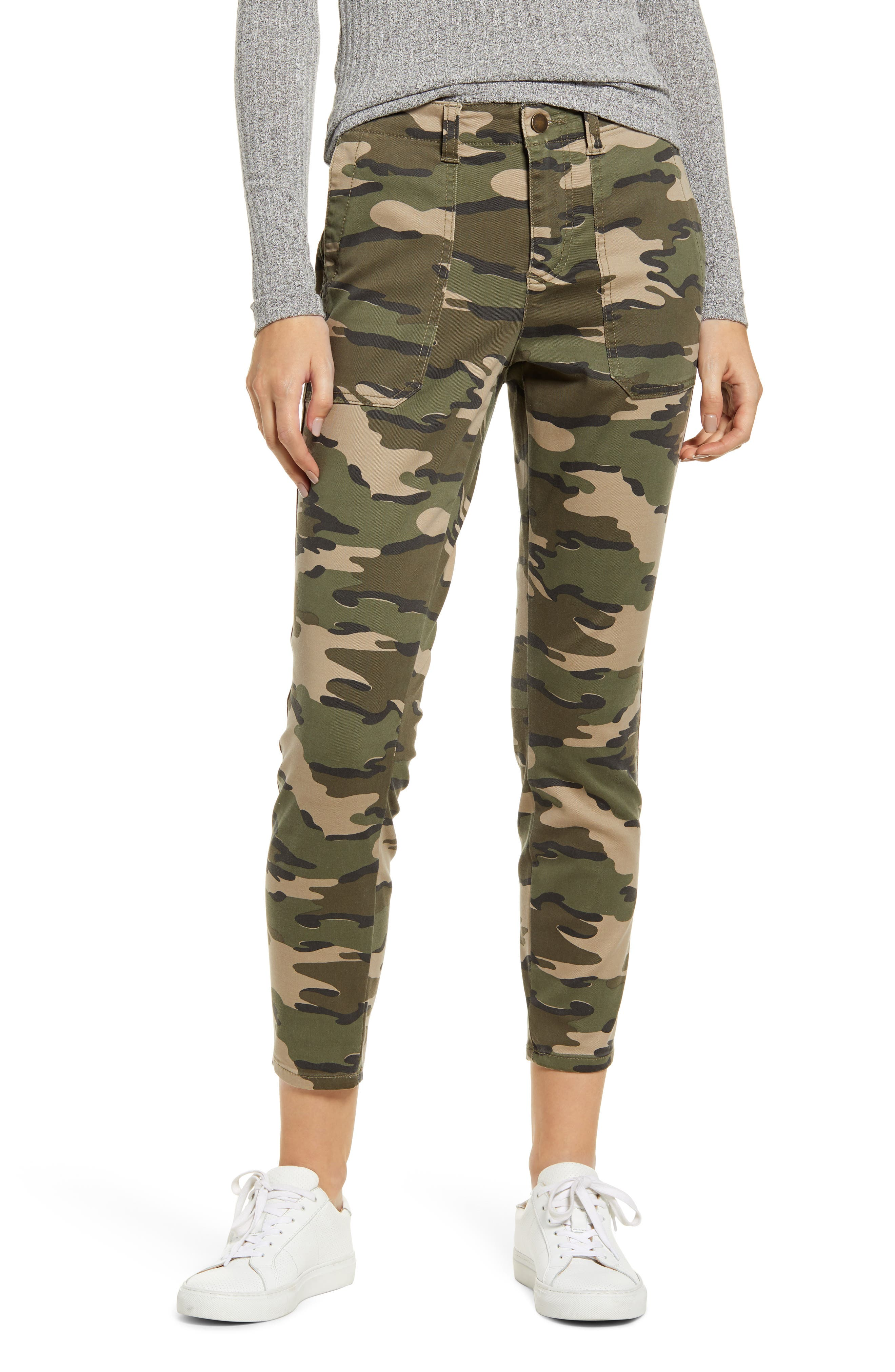 Caslon® Crop Utility Pants (Regular & Petite)