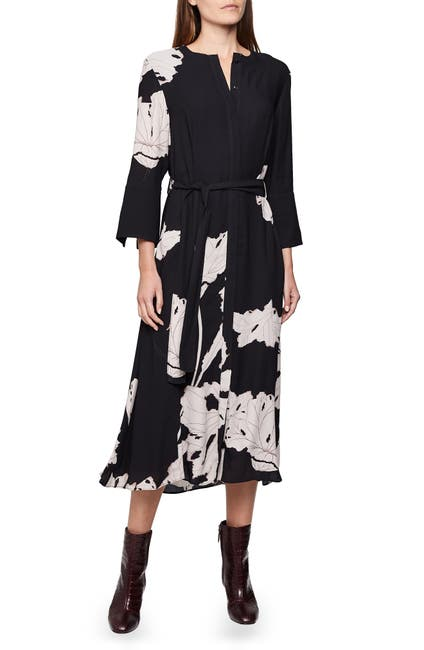 Image of REISS Zana Floral Placement Dress