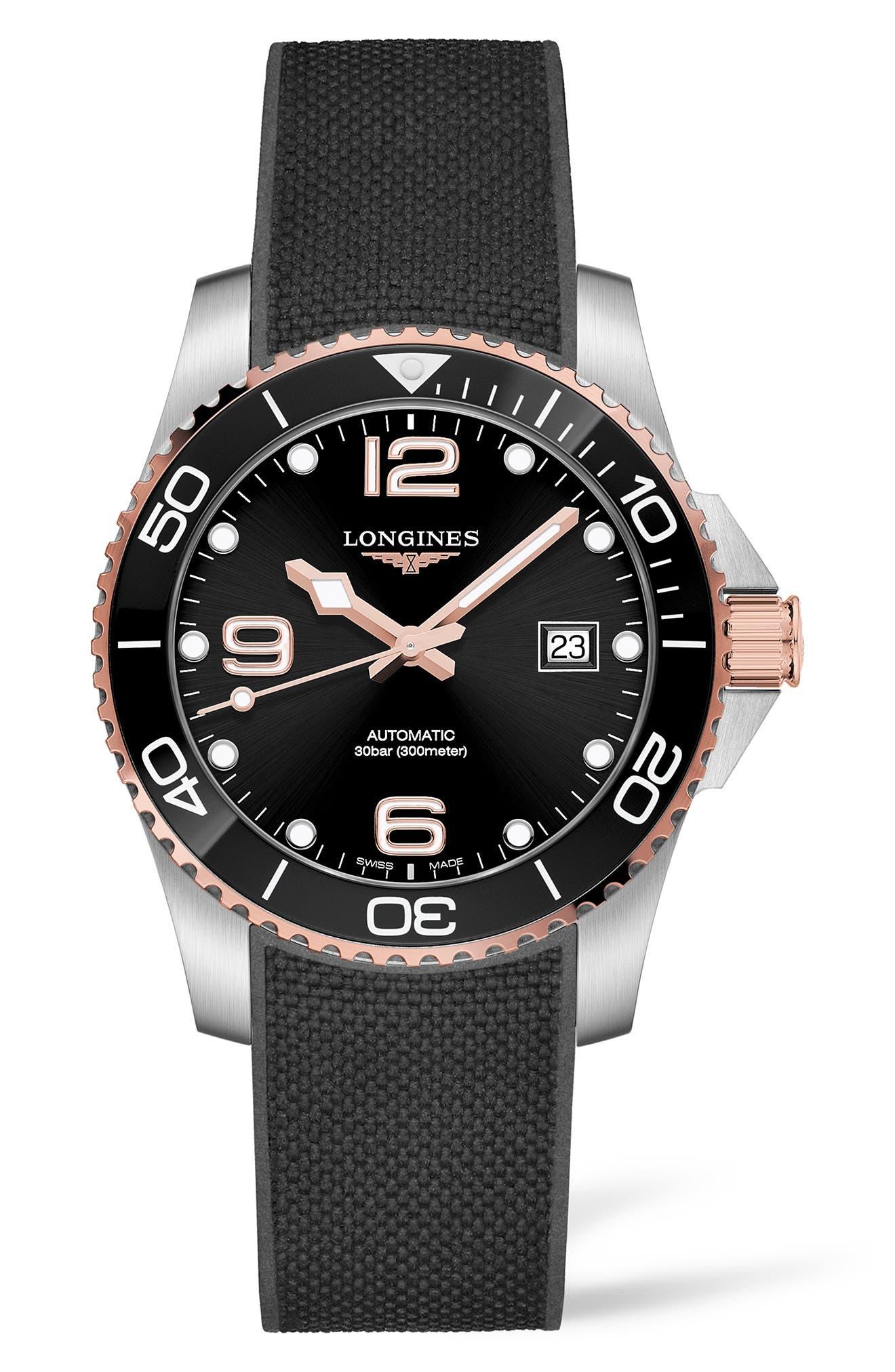 Hydroconquest Automatic Textile Strap Watch