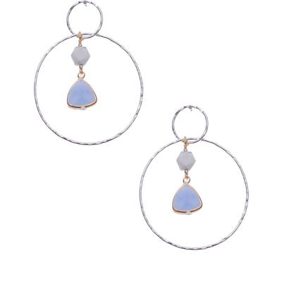 Nakamol Design Pendant Double Hoop Earrings