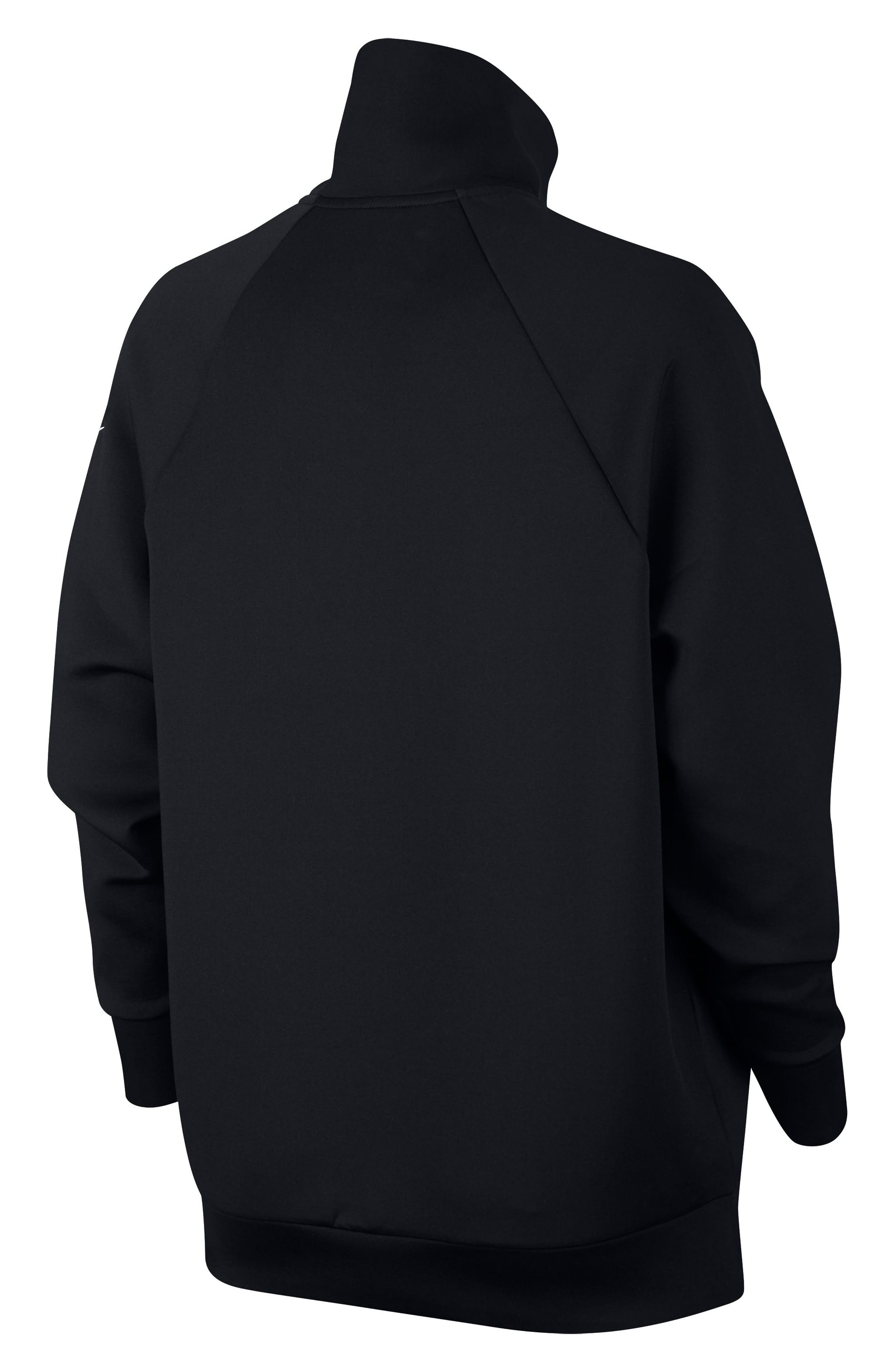 ,                             Mock Neck Zip Pullover,                             Alternate thumbnail 8, color,                             010