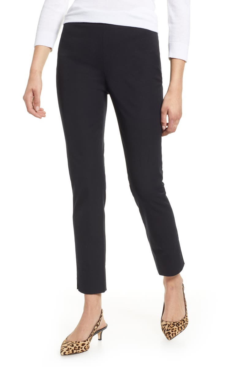 1901 4-Way Stretch Ankle Skinny Pants, Main, color, BLACK