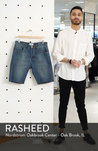 Slider Tapered Cut Off Denim Shorts, sales video thumbnail