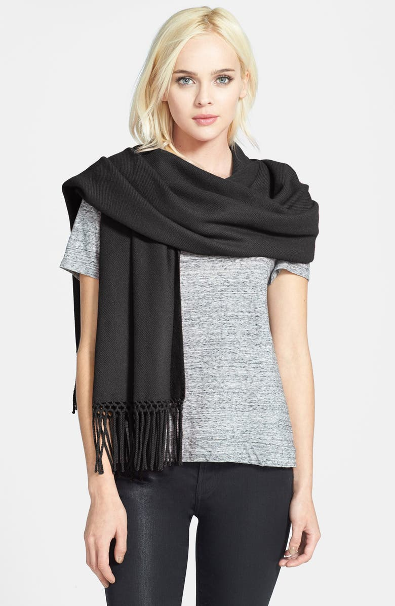NORDSTROM COLLECTION Cashmere Wrap, Main, color, 001