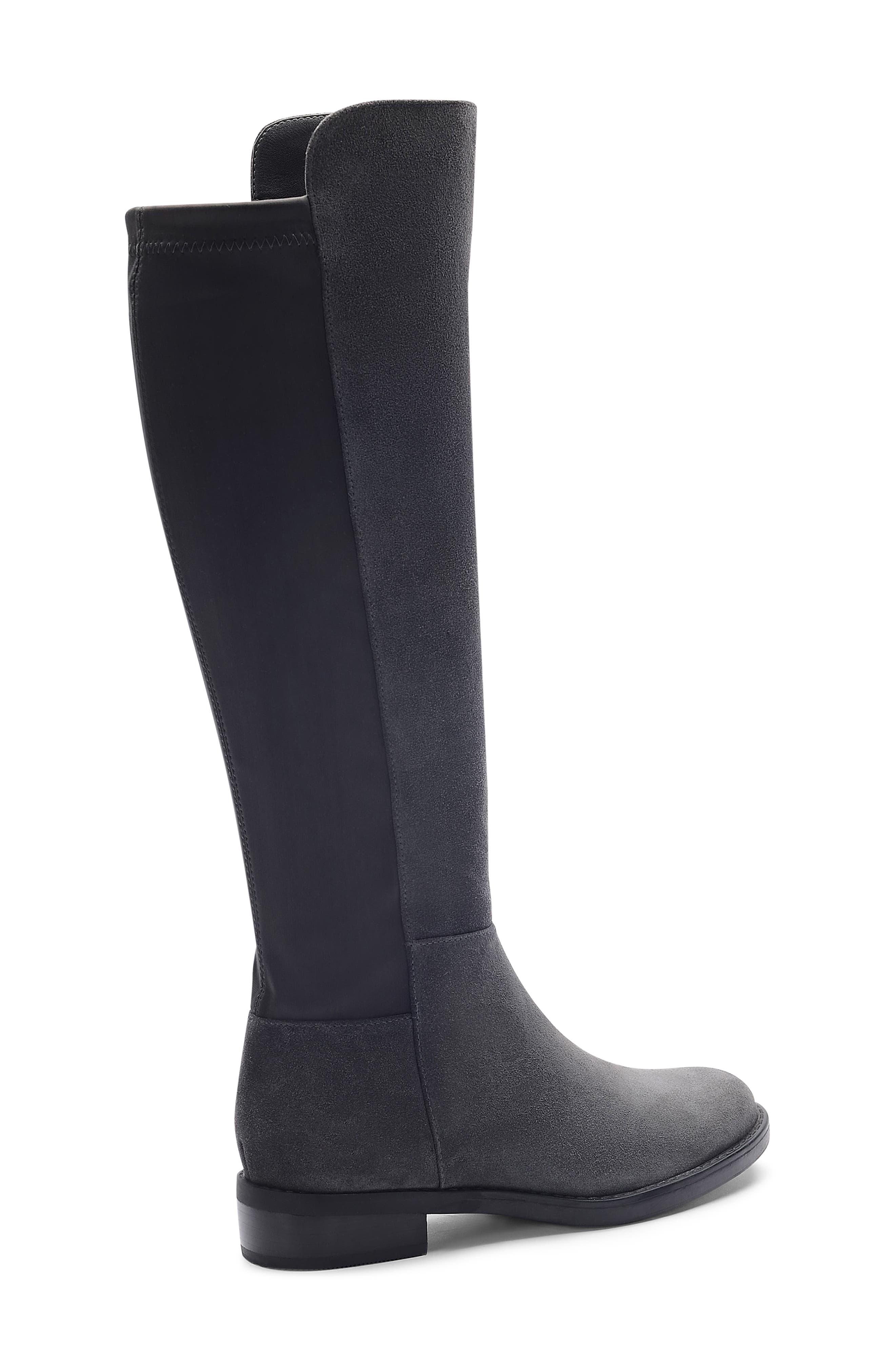 ,                             Ellie Waterproof Knee High Riding Boot,                             Alternate thumbnail 7, color,                             DARK GREY SUEDE