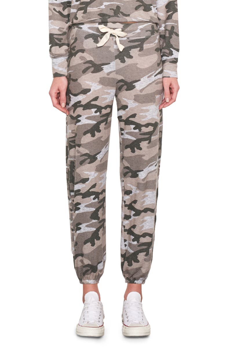 SUNDRY Camo Sweatpants, Main, color, HEATHER GREY