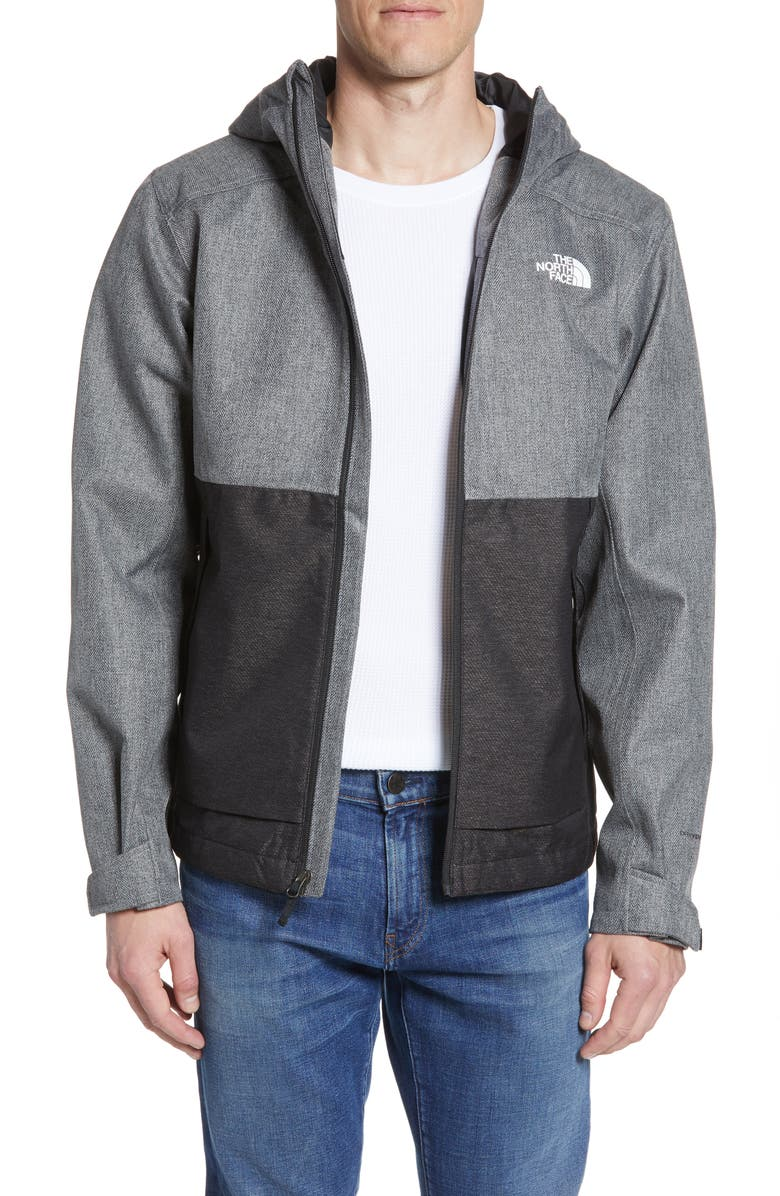 THE NORTH FACE Millerton Hooded Jacket, Main, color, MONUMENT GREY HERRINGBONE