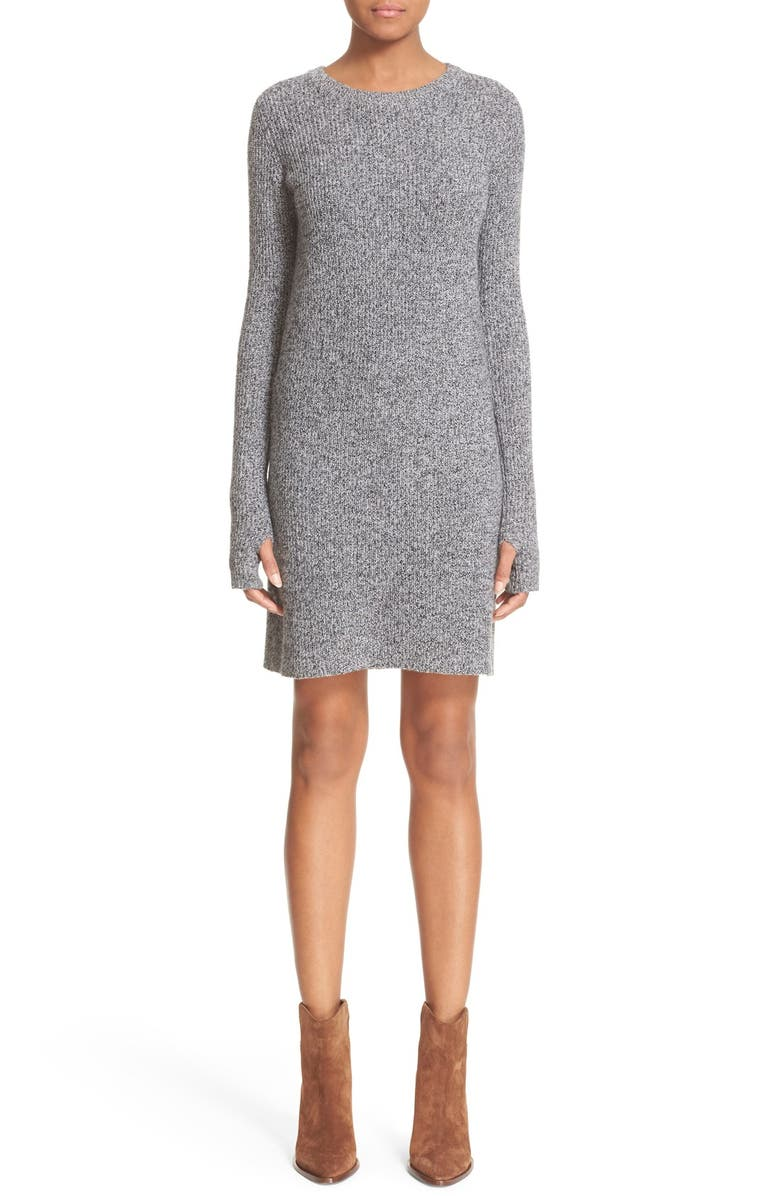 CURRENT/ELLIOTT 'The Easy Sweater' Wool & Cashmere Sweater Dress, Main, color, 078