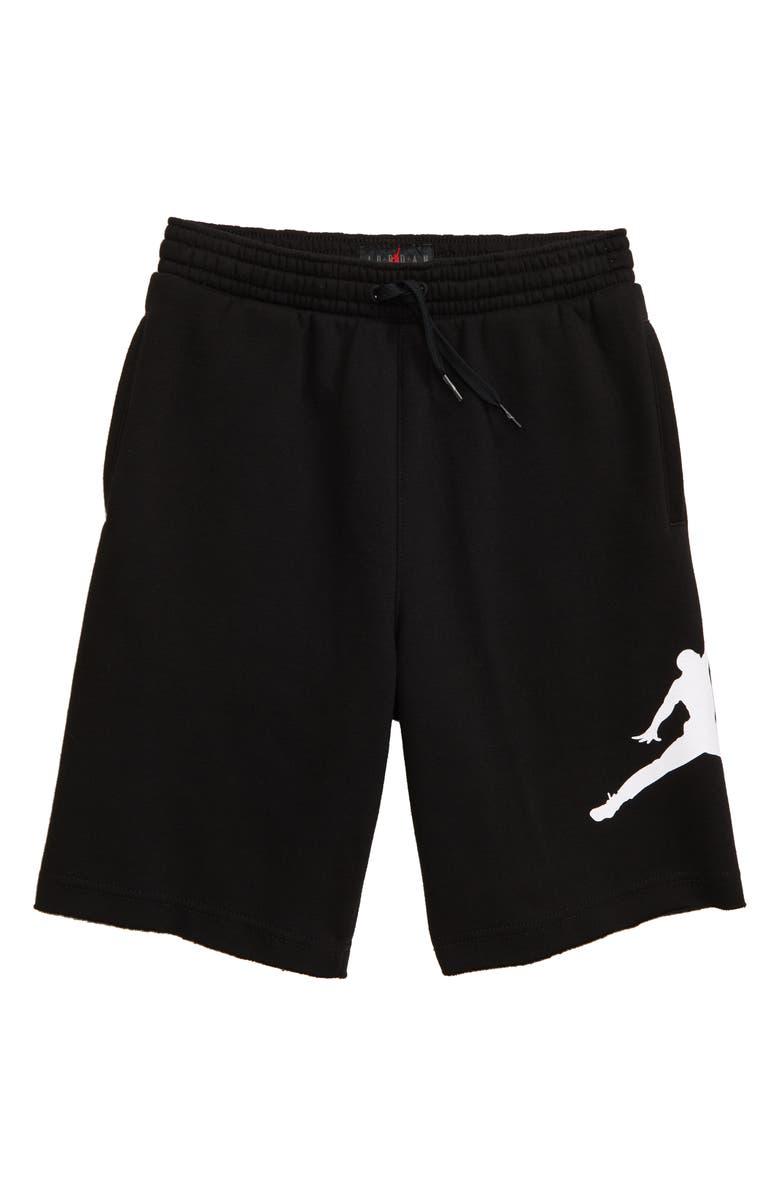 JORDAN Jumpman Air Knit Shorts, Main, color, BLACK