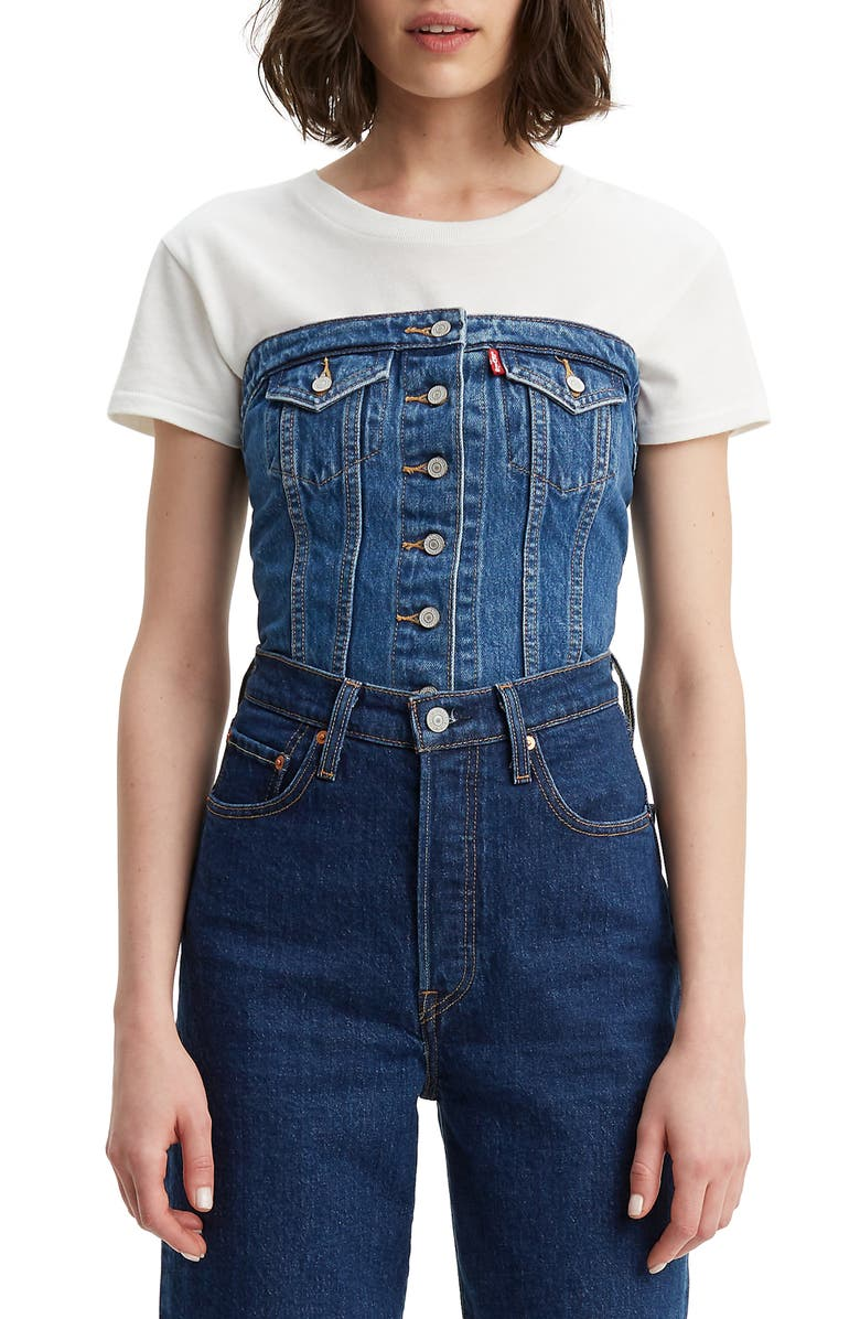 Lace Up Denim Corset by Levi's®