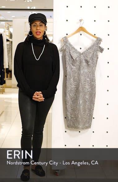 Cold Shoulder Lace Cocktail Dress, sales video thumbnail