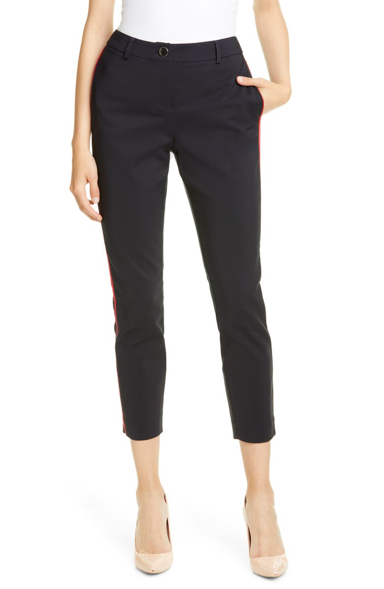 TED BAKER LONDON Side Piping Ankle Pants, Main, color, DK-BLUE