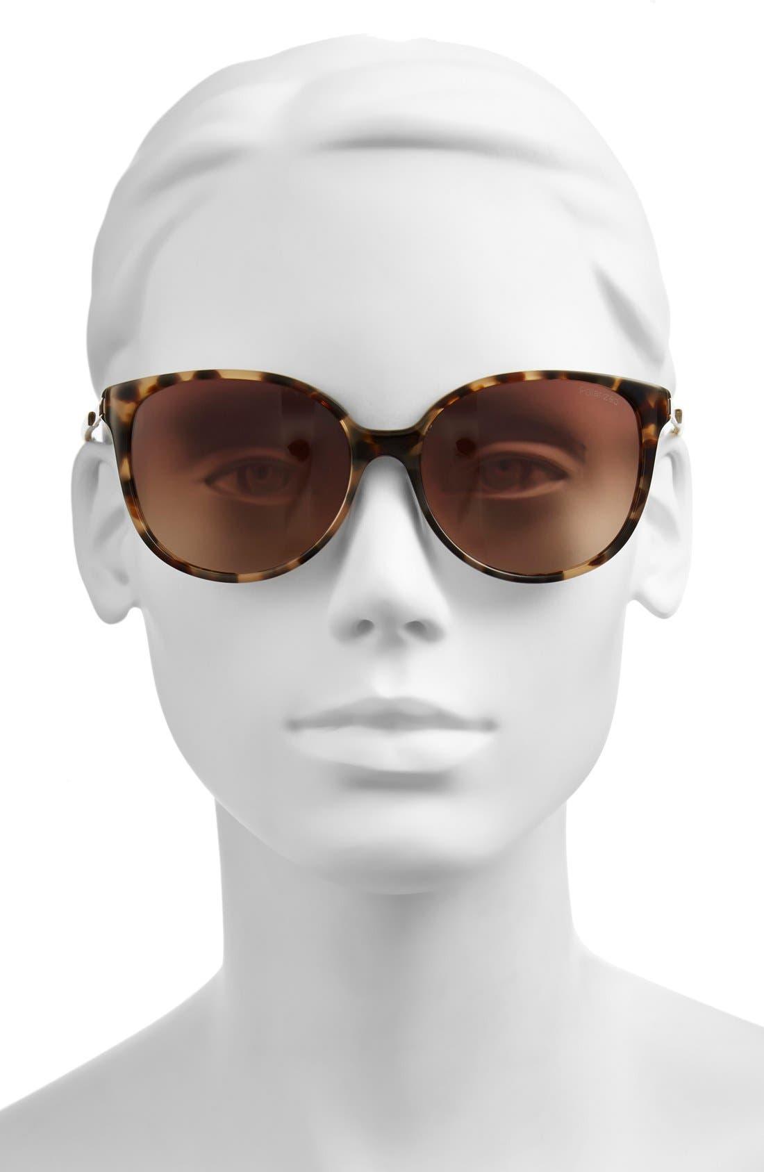 ,                             'shawna' 56mm polarized sunglasses,                             Alternate thumbnail 4, color,                             200