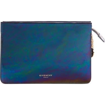 Givenchy Cross 3 Oil Slick Leather Crossbody Bag - Black