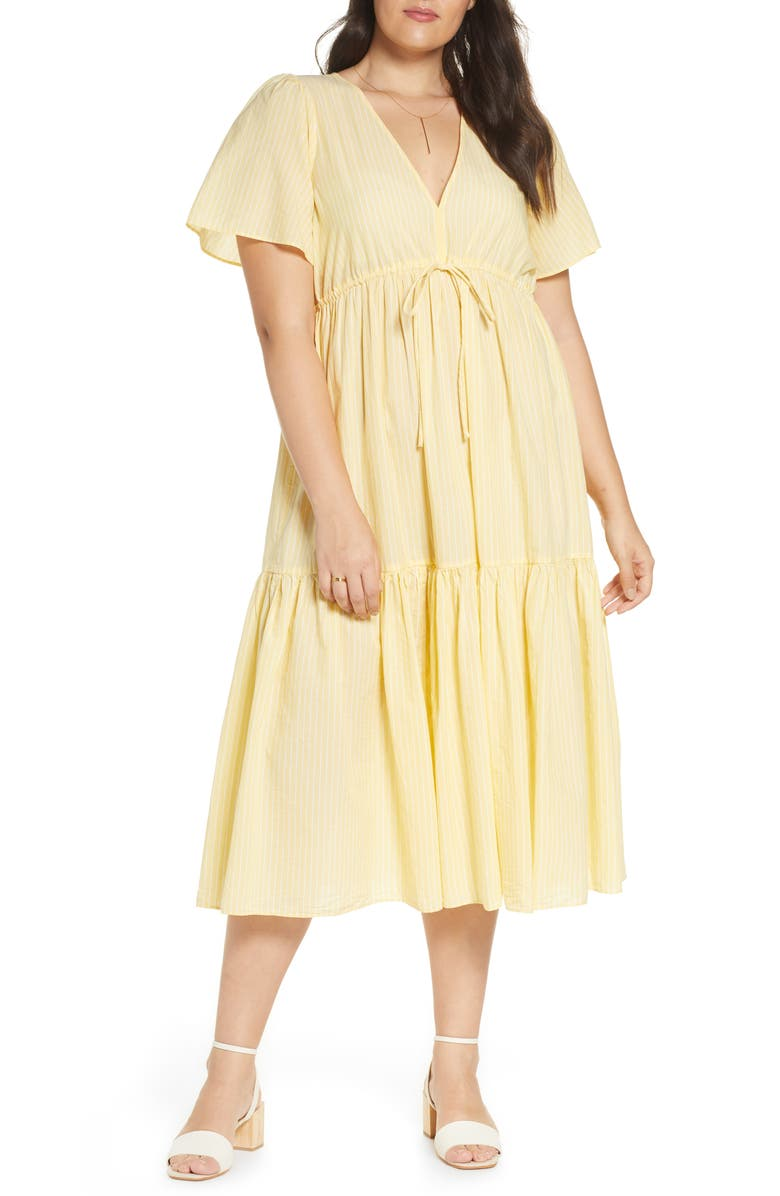 V-Neck Tiered Cover-Up Dress
