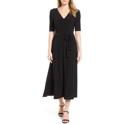 Chaus Lisa Tie Waist Dress, Black