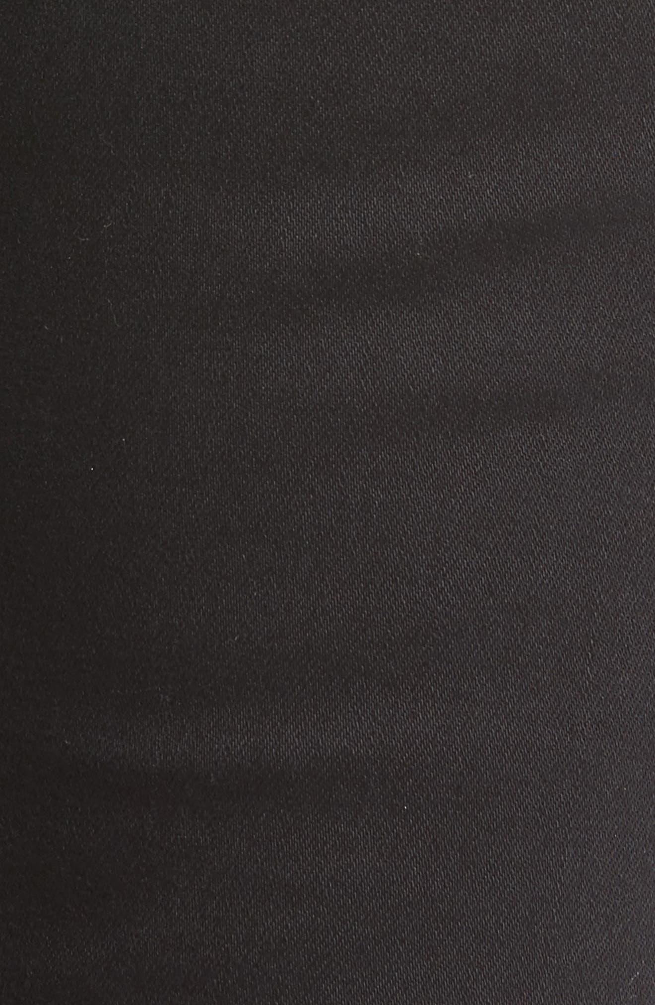 ,                             Frayed Hem High Rise Crop Jeans,                             Alternate thumbnail 5, color,                             001