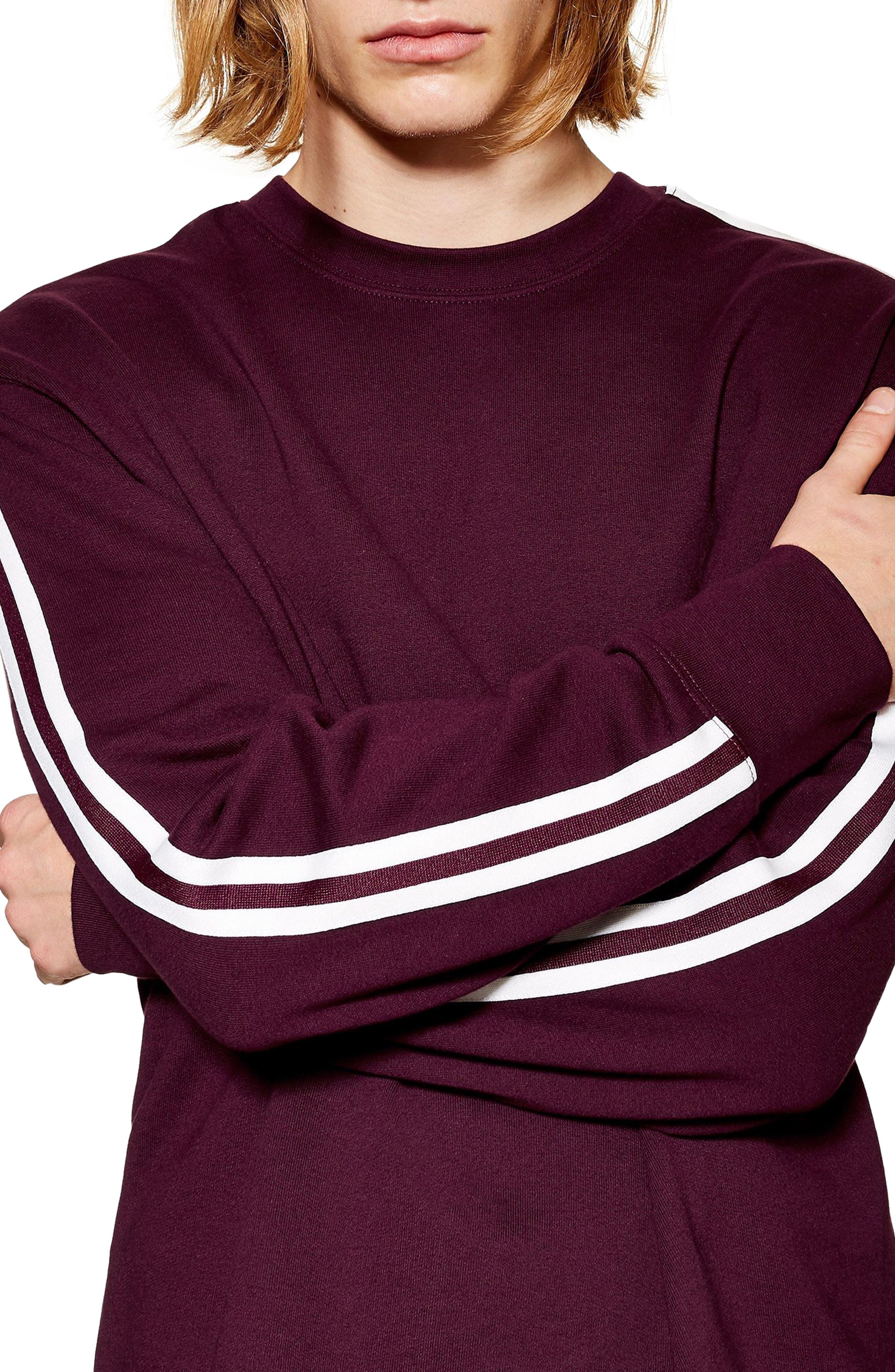 ,                             Tape Crewneck Sweatshirt,                             Alternate thumbnail 7, color,                             930