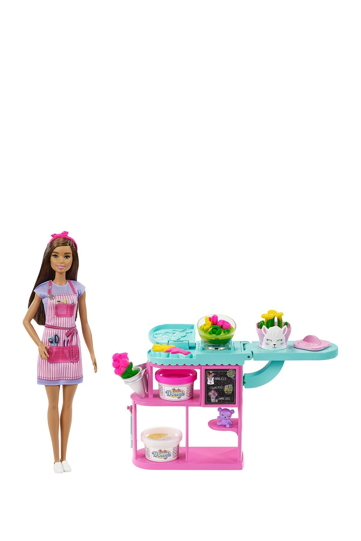 Image of Mattel Barbie® Florest Doll & Play Dough Playset - Brunette