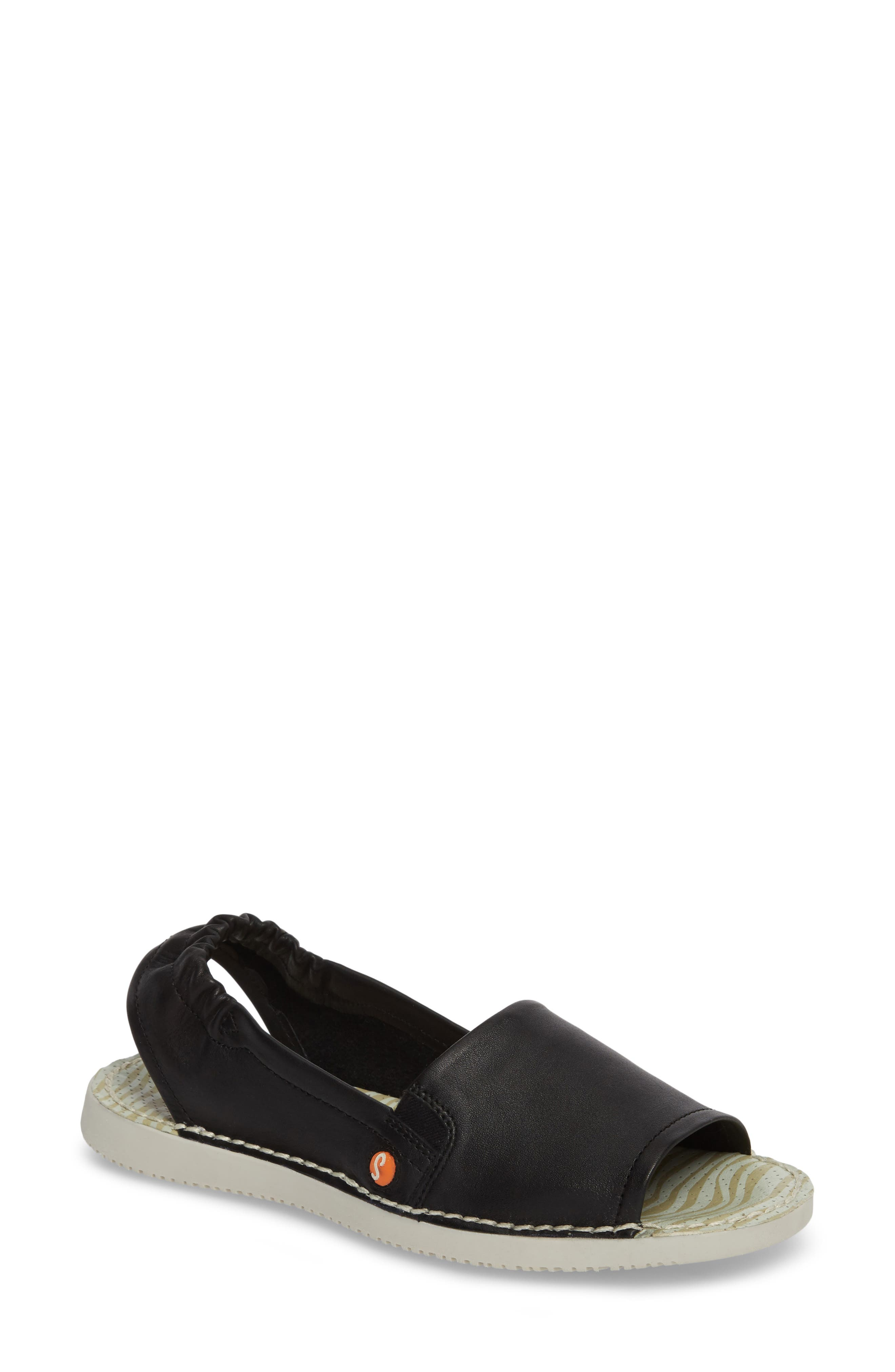 Softinos By Fly London Tee Flat Sandal - Black