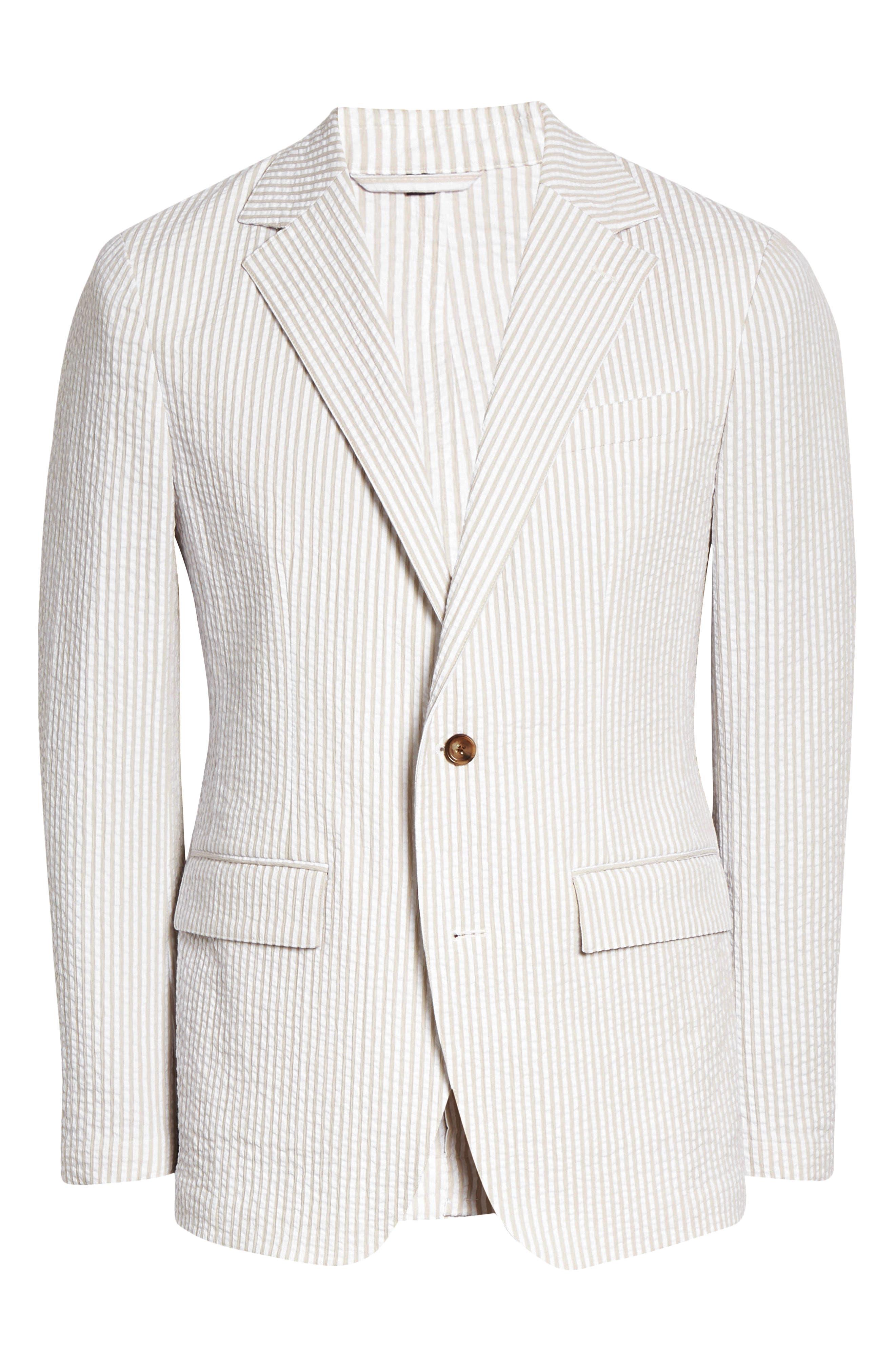 Slim Fit Seersucker Sport Coat