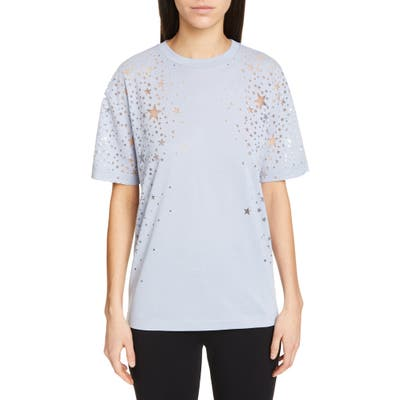 Stella Mccartney Burnout Star Tee, US / 44 IT - Blue