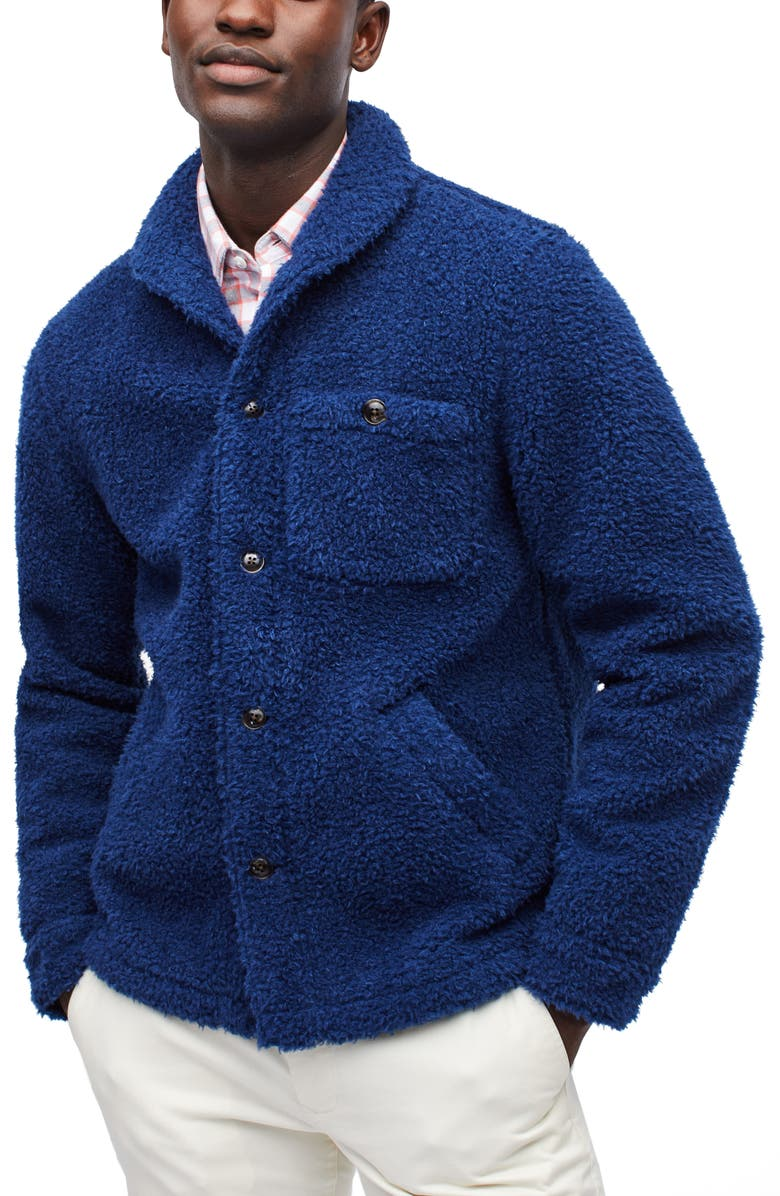 BONOBOS Slim Fit Fleece Shirt Jacket, Main, color, 400