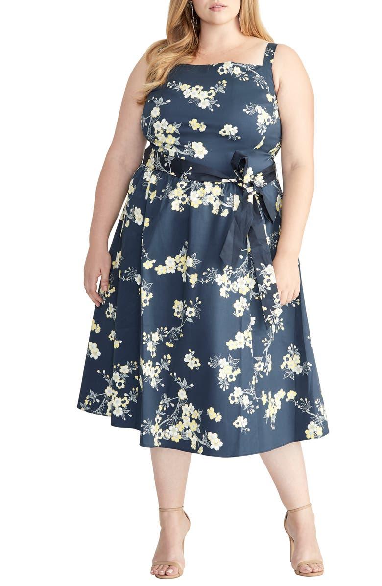 RACHEL RACHEL ROY Floral Fit & Flare Sundress, Main, color, 420