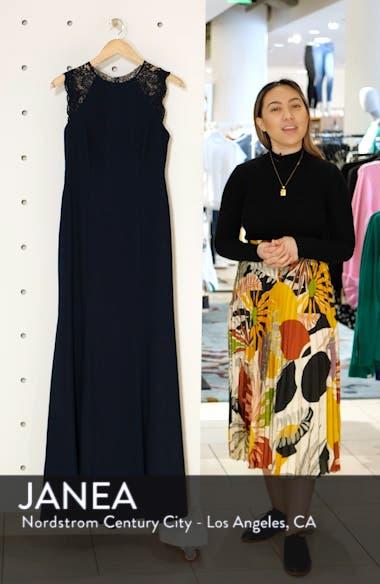 Lace Back Crepe Gown, sales video thumbnail