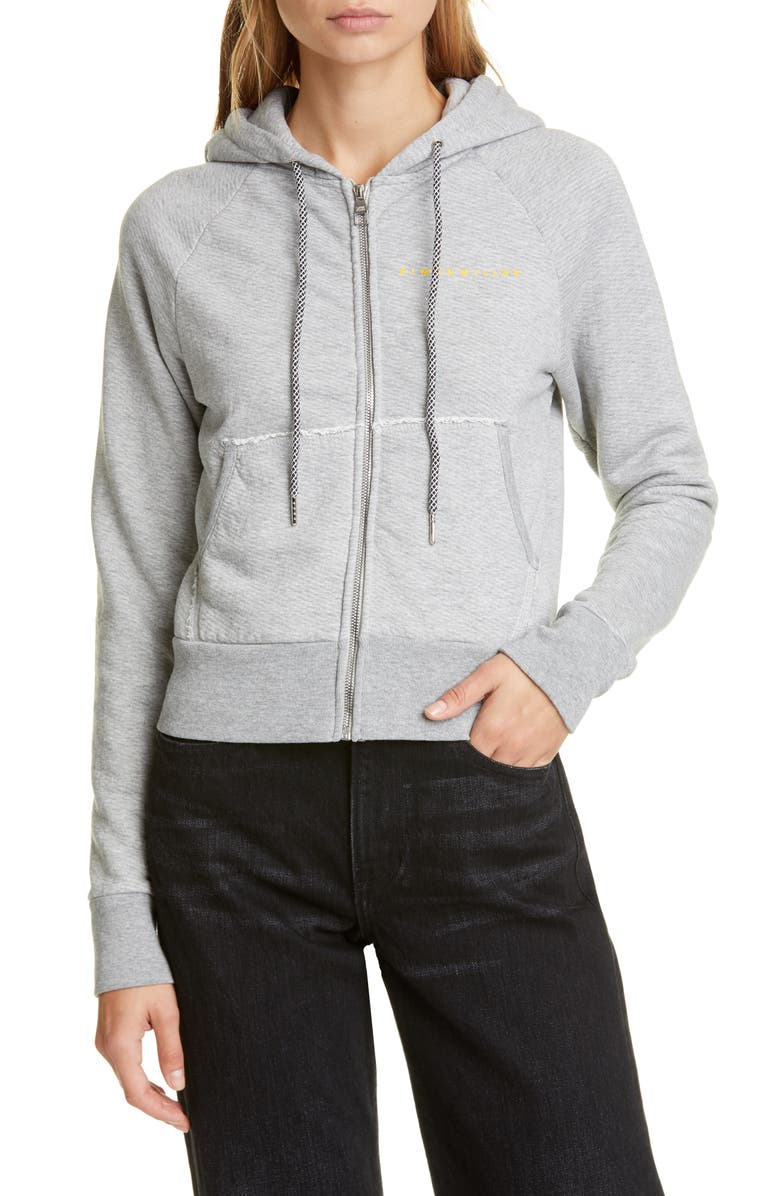 SIMON MILLER Rozi Zip Hoodie, Main, color, GREY