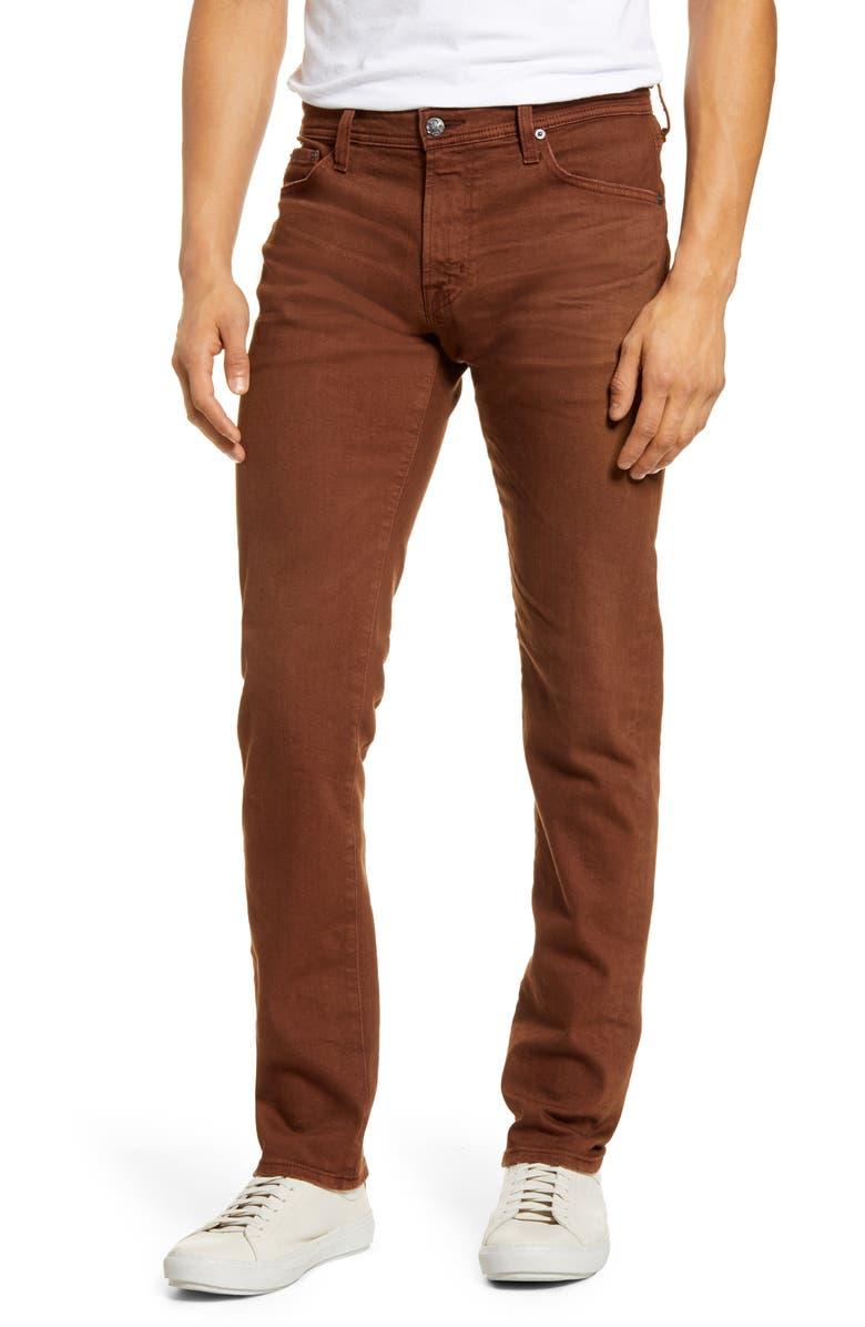 AG Tellis Slim Fit Jeans, Main, color, 7 YEARS SULFUR DUSTY AUBURN