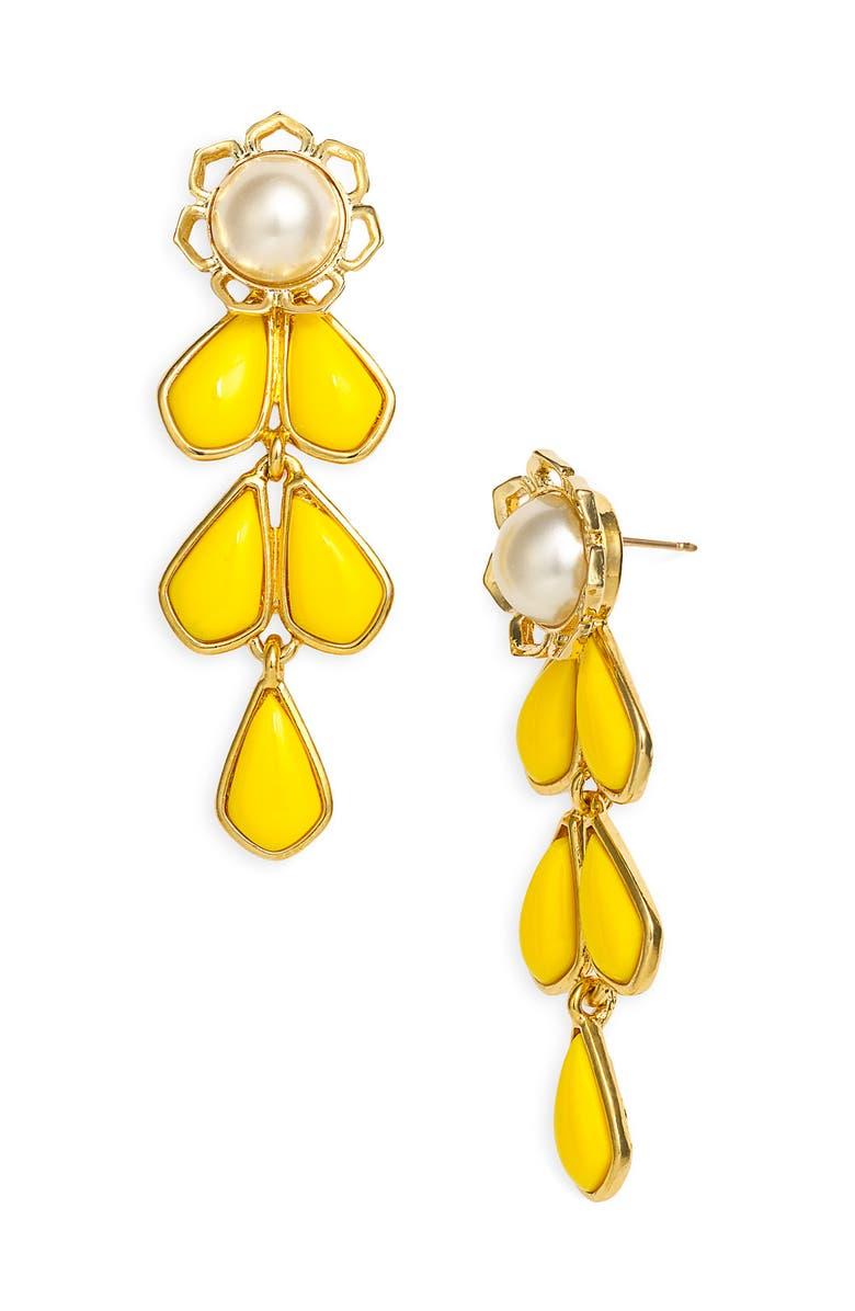 KATE SPADE NEW YORK 'sweet zinnia' chandelier earrings, Main, color, 700