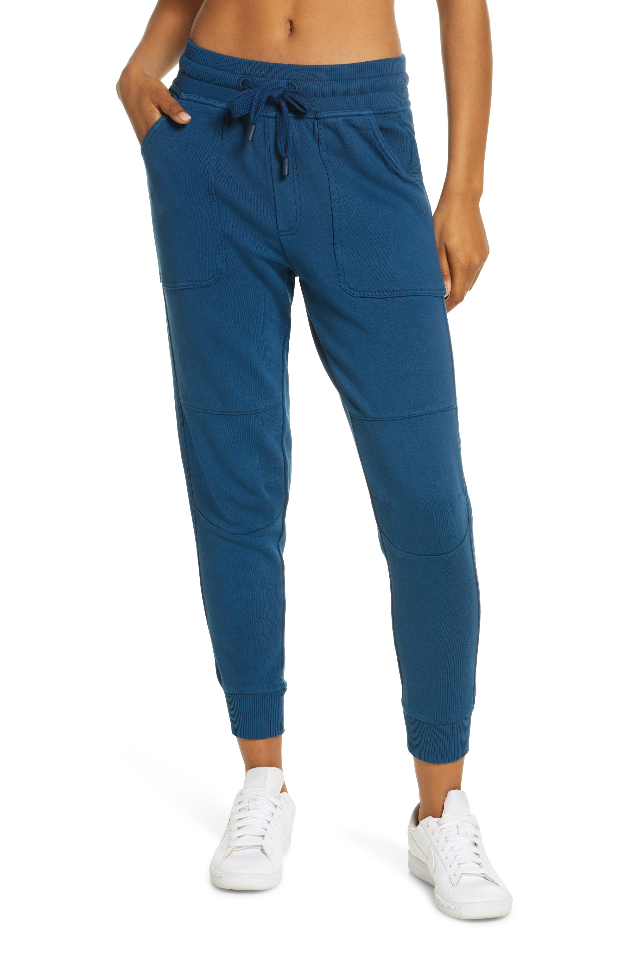 Moto-inspired panels at the knees update comfy joggers in supersoft cotton. Style Name: Zella Rudi Moto Jogger Pants. Style Number: 5967830 1. Available in stores.
