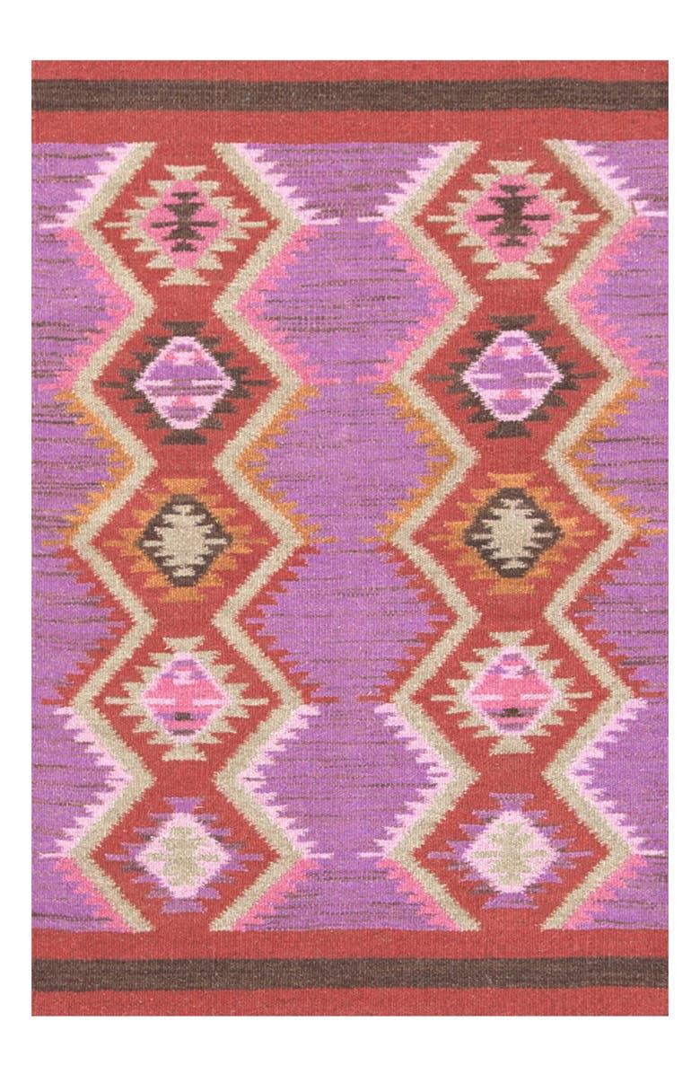 DASH & ALBERT Rhapsody Wool Blend Rug, Main, color, PINK