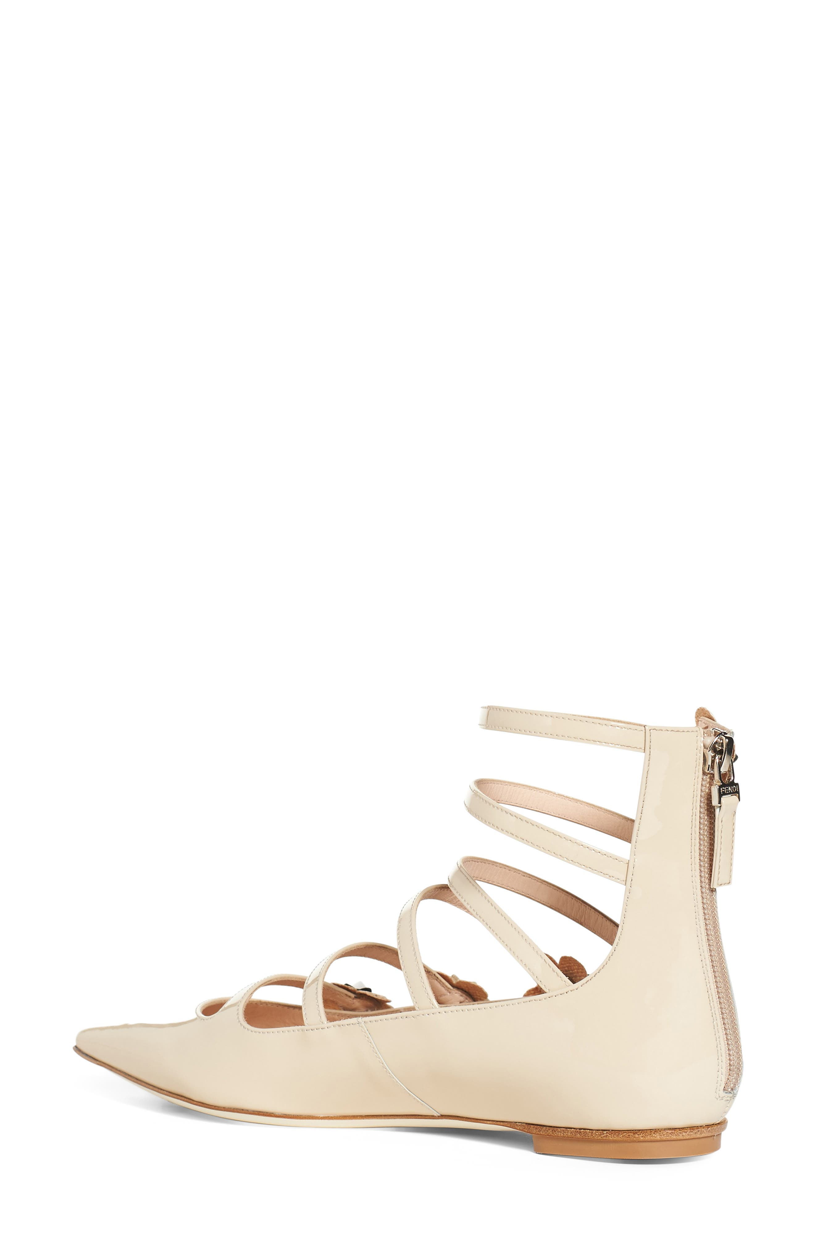 ,                             'Flowerland' Strappy Flat,                             Alternate thumbnail 2, color,                             250