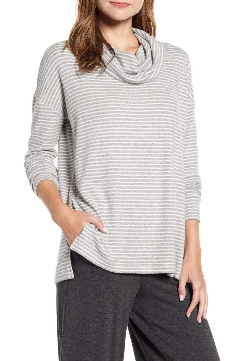 LOU & GREY Brushed Cowl Neck Top, Main, color, 032