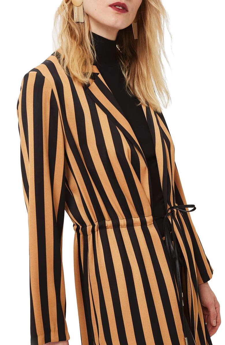 TOPSHOP Stripe Duster Jacket, Main, color, 201