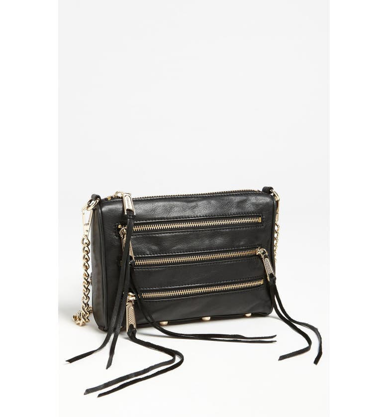REBECCA MINKOFF 'Mini 5 Zip' Convertible Crossbody Bag, Main, color, 001