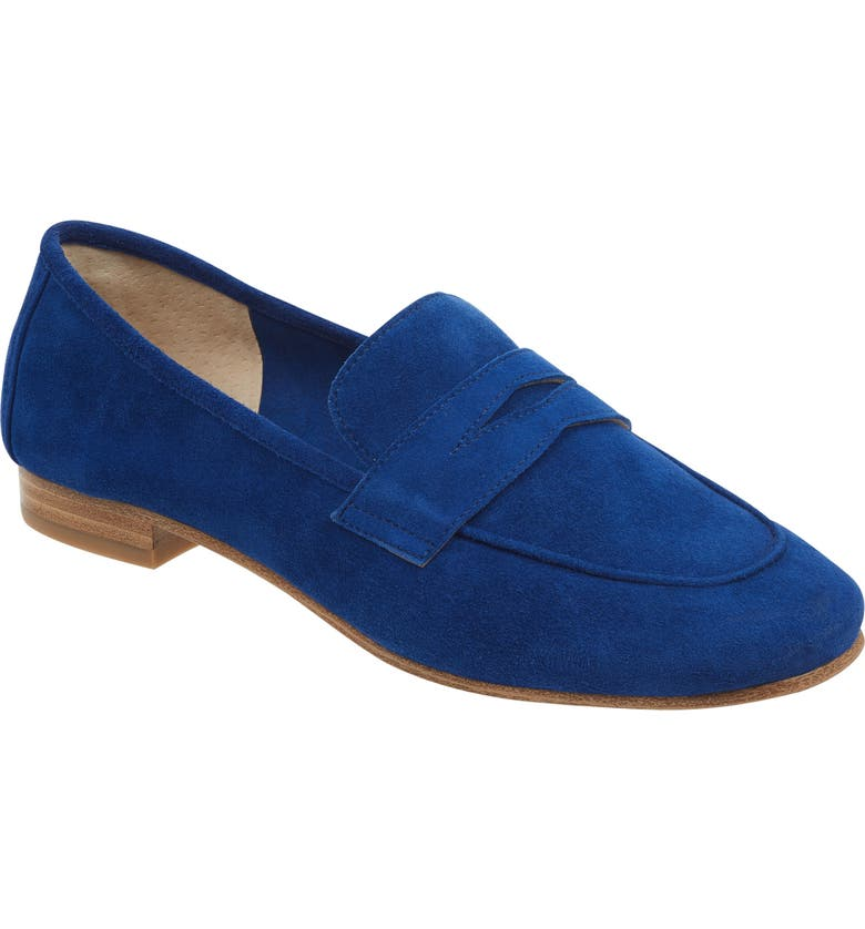 MARC FISHER LTD Chang Penny Loafer, Main, color, BLUE SUEDE