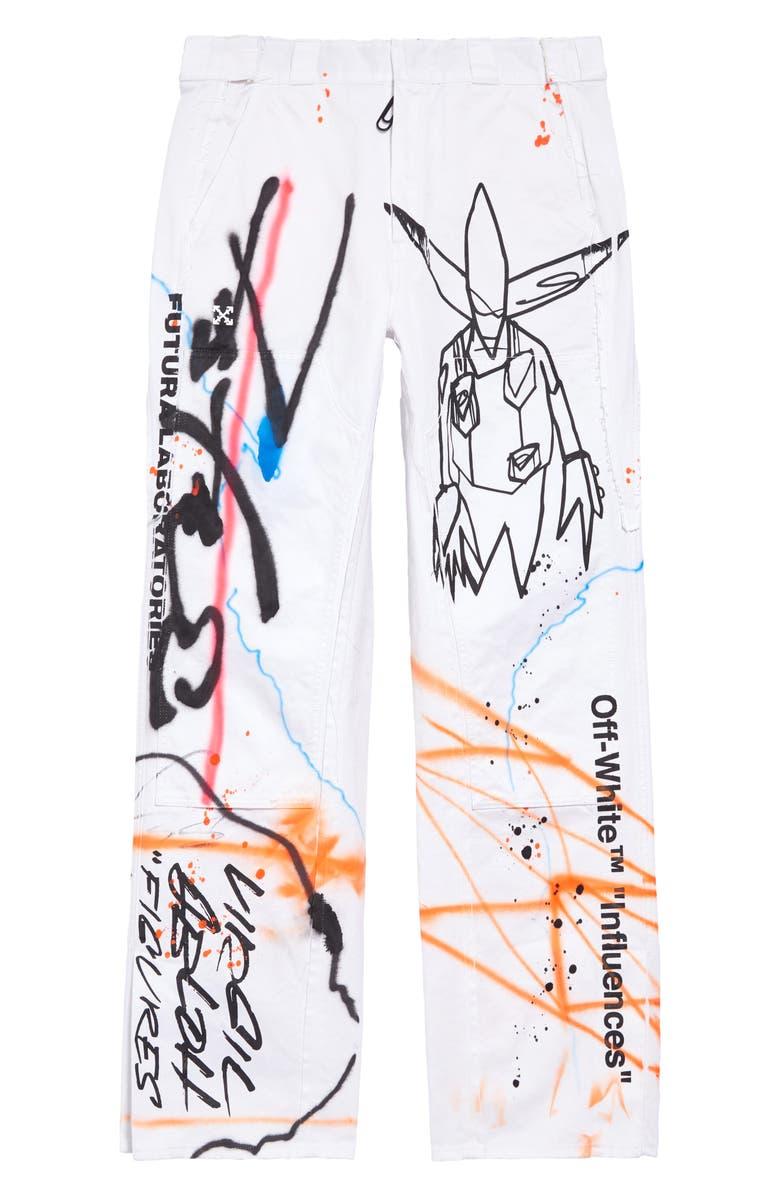 OFF-WHITE Futura Rainbow Carpenter Pants, Main, color, 100