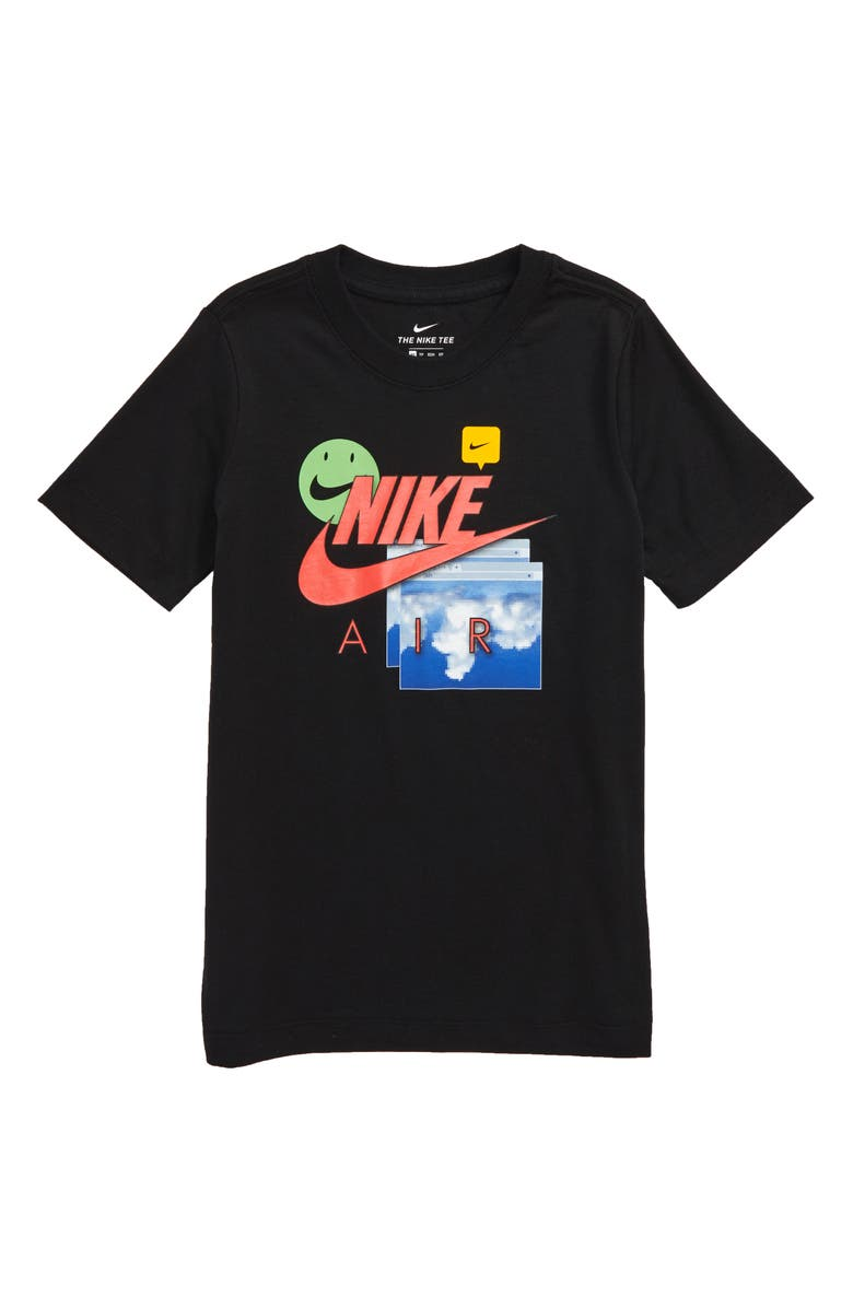 NIKE Air Future Graphic T-Shirt, Main, color, BLACK