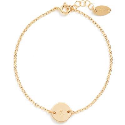 Nashelle Initial Mini Disc Bracelet